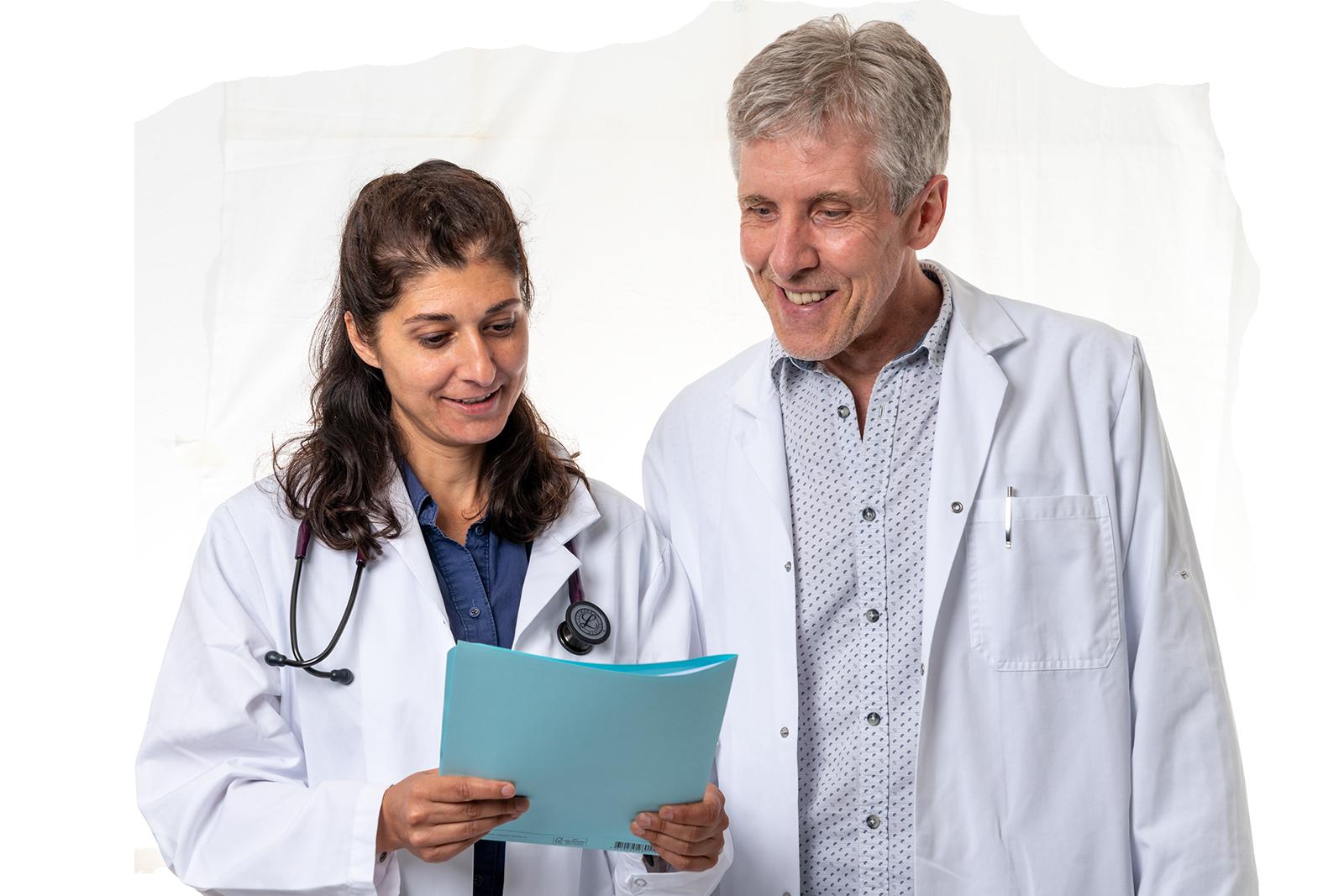 Ärztefoto mit Sima Dadelahi und Peter Jakobs